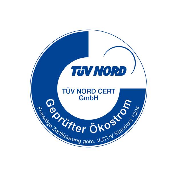 TÜV Siegel für geprüften Ökostrom