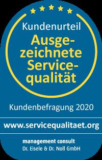 Zertifikat Servicequalität