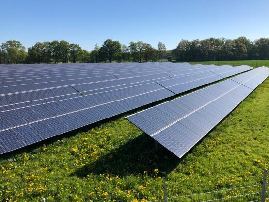 Solaranlage in Bützow. Bildnachweis: WEMAG/Ronald Kelm