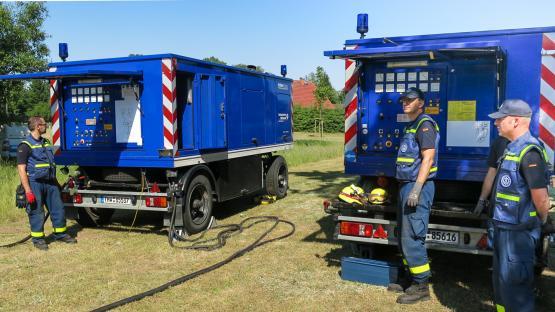 THW-Übung mit WEMAG-Netzdienststelle Hagenow