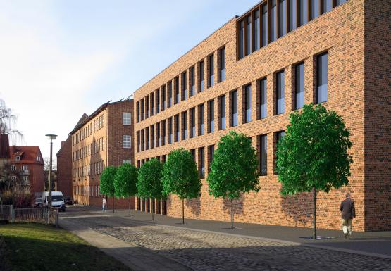Das neue Verwaltungsgebäude mit Netzleitstelle der WEMAG