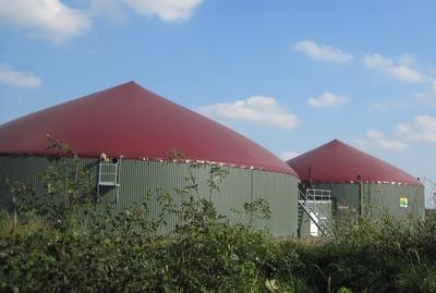 Gebäude in dem Biogas aufbereitet wird