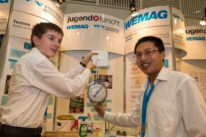 Die Sieger im Fachgebiet Arbeitswelt bei Jugend forscht 2014
