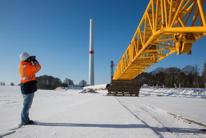 Der Windpark in Jännersdorf produziert Ökostrom für tausende Haushalte