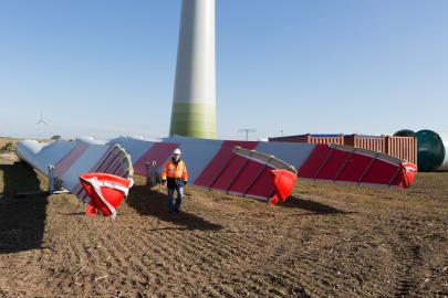Baustelle Windkraftanlage