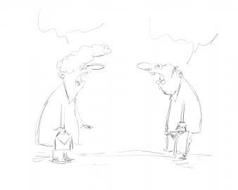 Schnell gezeichnet: Aus der Idee wird die erste Skizze entwickelt.