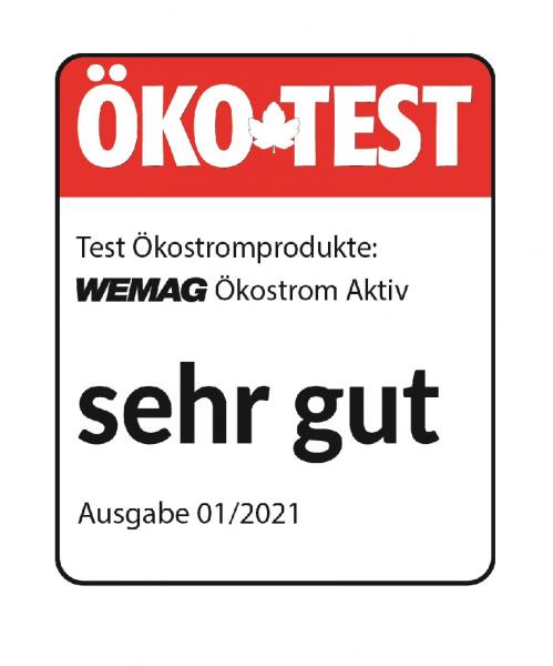 Öko-Test 2021: WEMAG mit sehr gut bewertet
