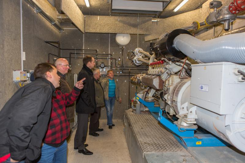 Besichtigung des Blockheizkraftwerkes in Bresegard bei Picher