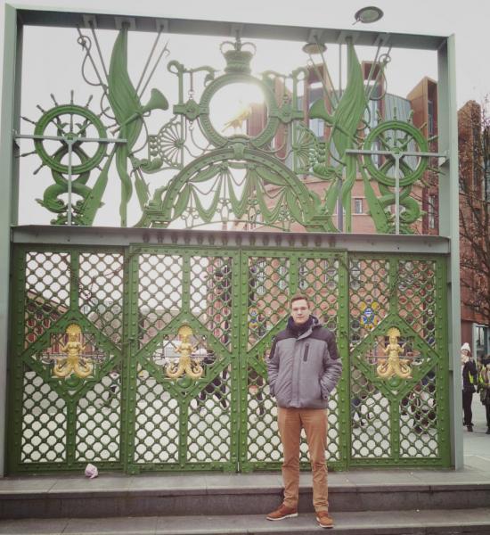 Tom Mathy hat im Rahmen seines dualen Studiums ein Auslandssemester in Stoke-on-Trent absolviert.