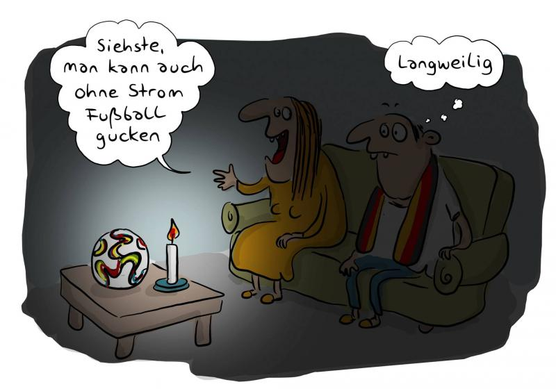 Cartoon Stromausfall