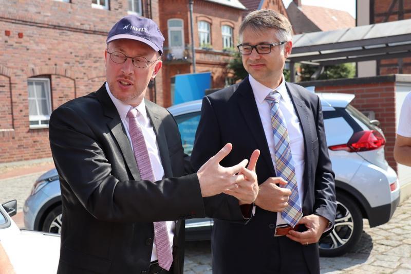 Christian Pegel im Gespräch mit Thomas Murche