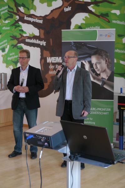 Dirk Lembcke und Dirk Lübcke referierten über die die Digitalisierung der Energiewende