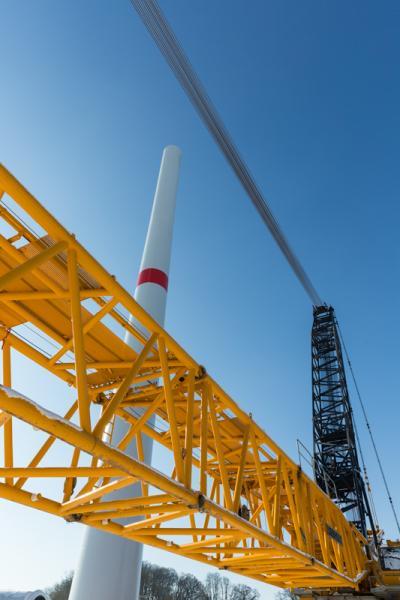 In Jännersdorf wird die Energie erneuerbar aus Wind gewonnen.