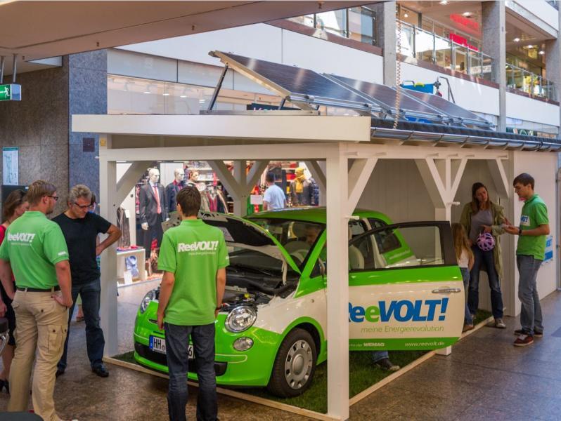 Vorstellung der Elektromobilität im Schloßparkcenter Schwerin
