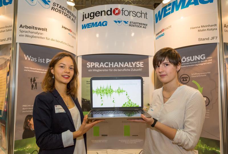 Im Fachgebiet Arbeitswelt gewann Hannah Meinhardt und Malin Kotvra vom Käthe Kollwitz Rostock