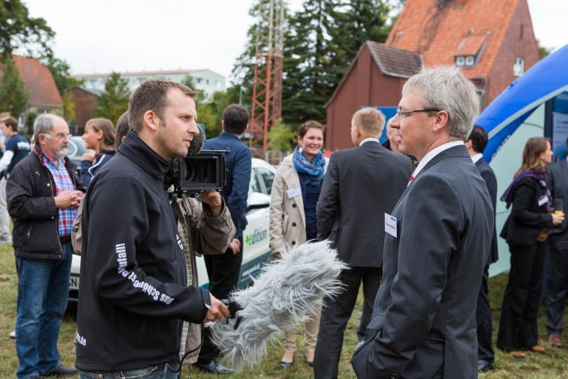 WEMAG-Vorstand Thomas Pätzold im Gespräch mit der Presse