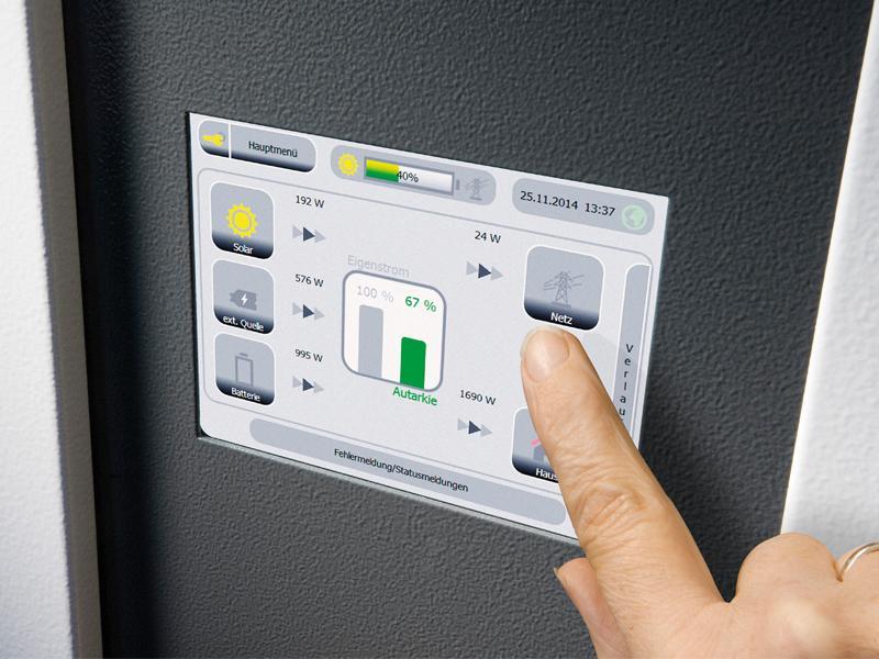 Der Speicher von E3/DC speichert den Strom Ihrer Solaranlage.