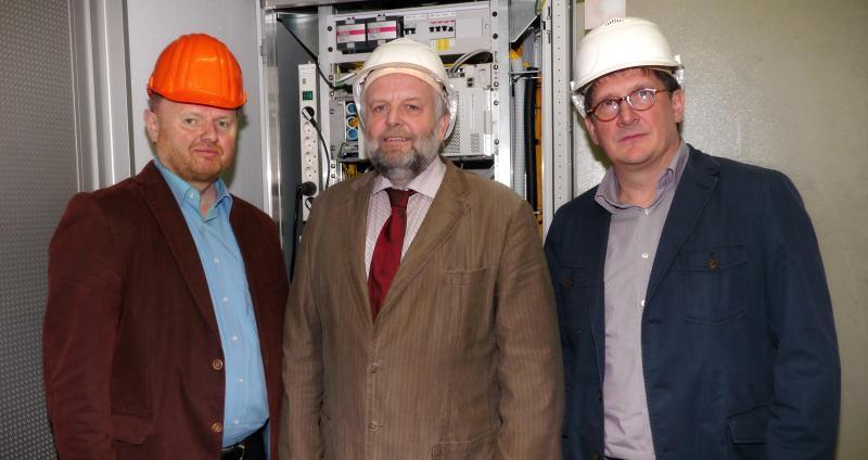 Projektleiter Rainer Killer, Bürgermeister Dieter Voß und MOS GmbH Geschaftsführer André Dahl