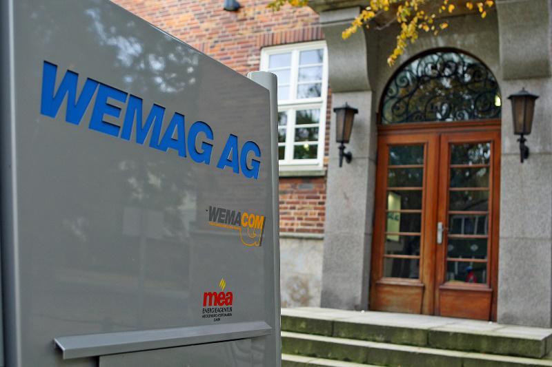 Eingang WEMAG-Verwaltungsgebäude Schwerin