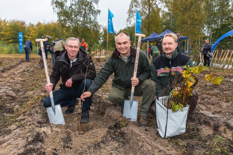 Thomas Pätzold, Manfred Baum und Bernd Poeppel unterstützten tatkräftig die Aktion