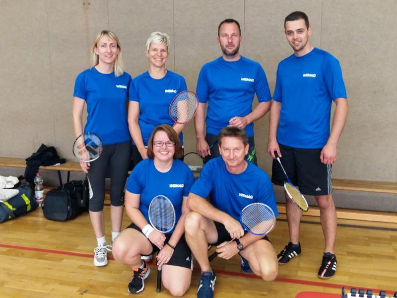 Die WEMAG-Stromschnellen waren beim Badminton Team Cup am Start