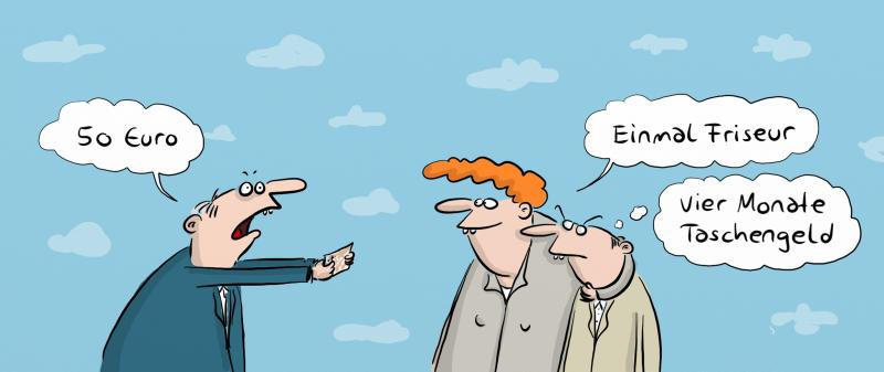 Kunden werben Kunden Cartoon