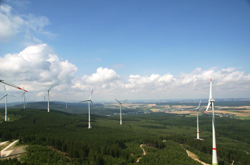 Gemeinschaftswindpark Kandrich der WEMAG mit der Thüga Erneuerbare Energien