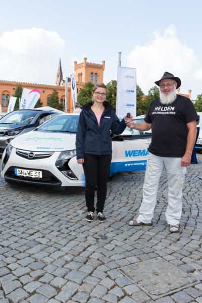 Die WEMAG unterstüzt den e-Pendler Tag mit vier Elektroautos