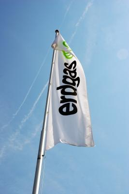 Erdgas Fahne