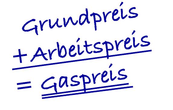 Grundpreis + Arbeitspreis = Gaspreis