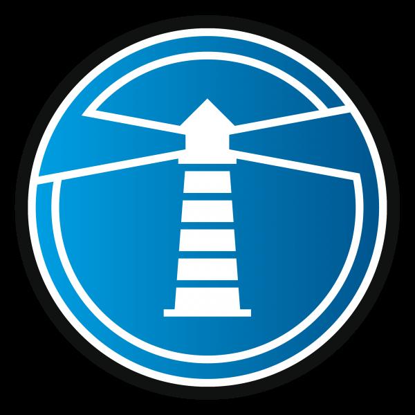 Icon Leuchtturm mit Schatten