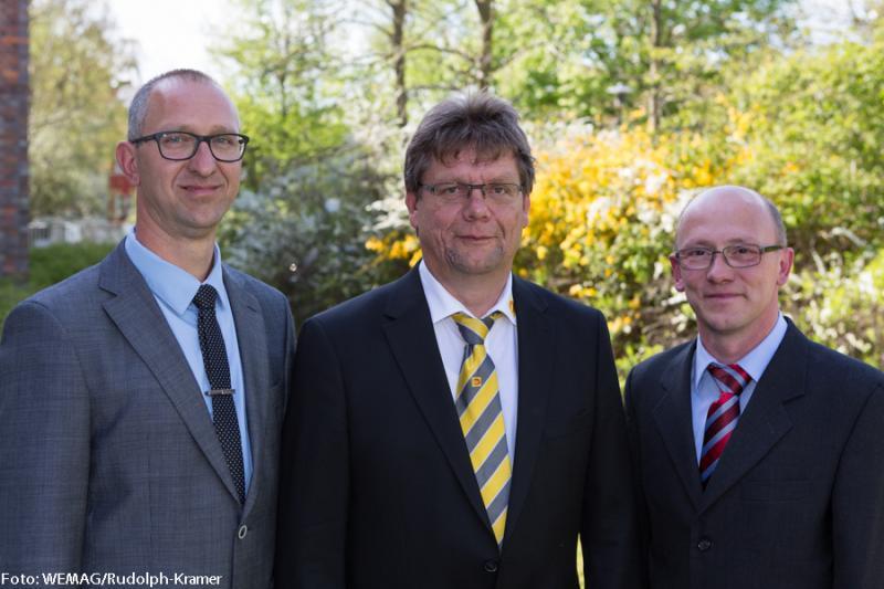 Die m-peG-Geschäftfsführung: Michael Grünberg, Christian Jessel und Dirk Lübcke