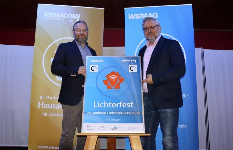 Breitbandkoordinatoren des Landkreises Ludwigslust-Parchim, Rüdiger Falk und Kirschstein (v.l.n.r.)
