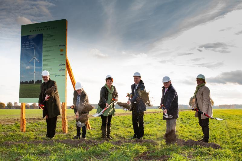 Symbolischer Spatenstich für Windpark Hoort