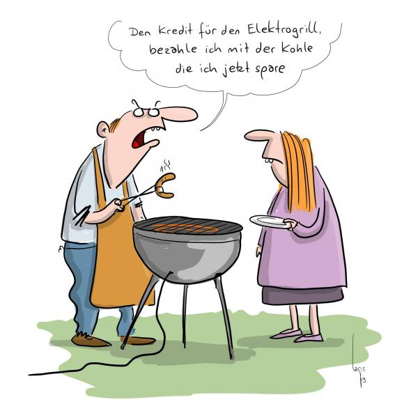 WEMAG Comic: Elektrogrill - @Mario Lars