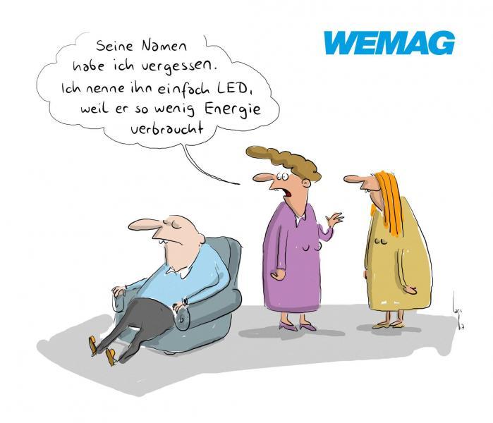 Comic von Mario Lars: Seinen Namen habe ich vergessen. Ich nenne ihn einfach LED, weil er so wenig Energieverbraucht
