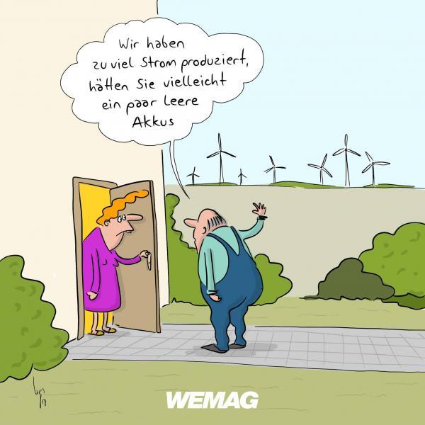 Überproduktion von Strom - Comic von Mario Lars