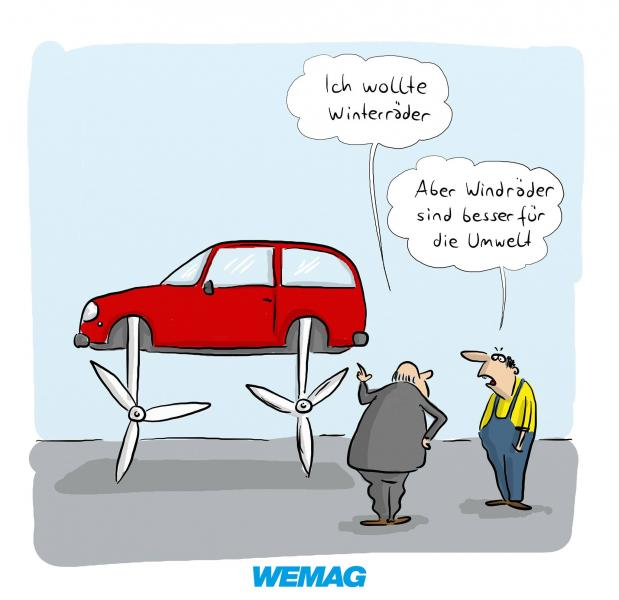 Windräder - das ist Windenergie -Comic @ Mario Lars