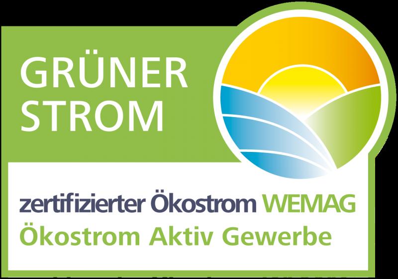 Grüner Strom Label für WEMAG Ökostrom Aktiv Gewerbe