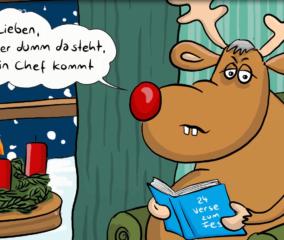 Täglich versorgt uns Rentier Rudolph mit neuen Versen