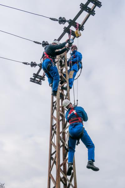 """""""Retten aus Höhen"""" Arbeitssicherheitsschulung bei der WEMAG"""
