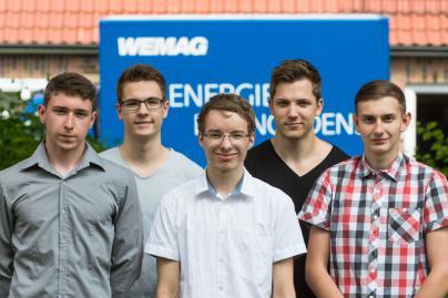 Die neuen Auszubildenden der WEMAG