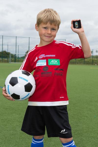 Constantin holte sich das Fußballabzeichen in Silber