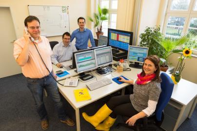 Das EEG-Direktvermarktungsteam der WEMAG