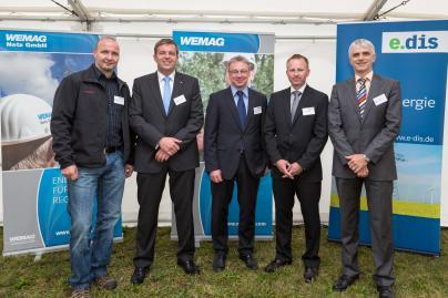 Einweihung der 110 kV Leitung durch WEMAG, WEMAG Netz und e.dis