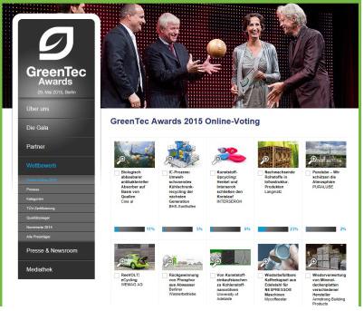 Greentec Award: Voten für die besten Umwelt-Ideen