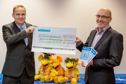 WEMAG unterstützt Kinderschutzbund mit 1500 Euro