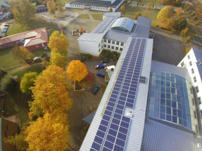 Photovoltaik Anlage auf dem Friedrich-Franz-Gymnasium in Parchim