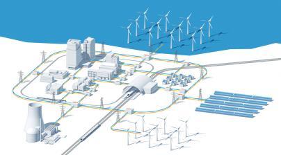 Smart Grid ist die intelligente Vernetzung unterschiedlicher Netzbestandteile