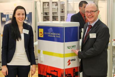 Stefanie Werner und Dirk Lübcke vertraten die WEMAG Netz GmbH und die m-peG